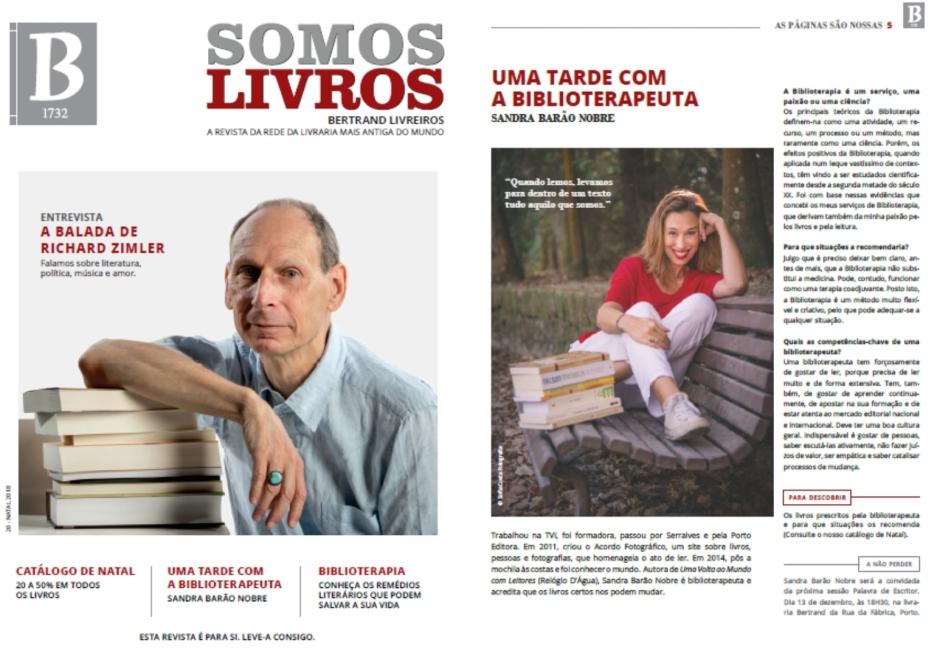 A Biblioterapeuta - Biblioterapia - Sandra Barão Nobre - Somos Livros - Bertrand Livreiros - Natal 2018