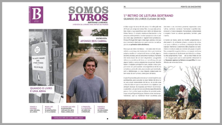 Sandra Barão Nobre - A Biblioterapeuta - Biblioterapia - Revista Somos LIvros Maio 2020 - 1